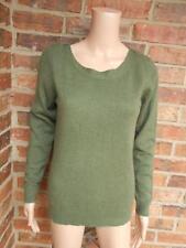FENN WRIGHT MANSON Size M 100% Cashmere 2 Ply Sweater Women Long Sleeve Green
