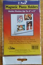 "PIONEER 4"" x 6"" MAGNETIC PHOTO HOLDER 2 PACK NEW SEALED"