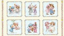 Sunbonnet Emma and Friends Cotton Quilting Fabric Panel Elizabeth's Studio 4115