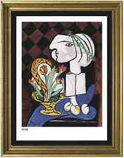 "Pablo Picasso Signed & Hand-Number Ltd Edition ""Still Life w Tulips"" Litho Print"