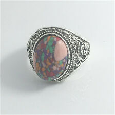 Vintage Woman 316L Stainless Steel Vogue Design Mini Stone Ring Size 8  NEW  !!!