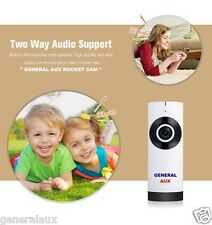 GENERAL AUX SPY ROCKET FISH EYE WIFI IP CCTV CAMERA TWO WAY TALK PLUG N PLAY CAM