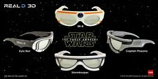 Star Wars EPISODE VII The Force Awakens Theater 3D Glasses Complete Series Set