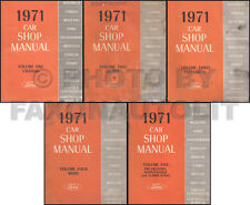 Original 1971 Shop Manual Lincoln Mark III Town Car Continental Ford LTD Galaxie