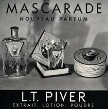 ▬► PUBLICITE ADVERTISING AD Parfum Perfume Mascarade L. T. PIVER 1936