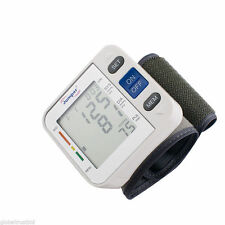 Mini Automatic Digital LCD Wrist Blood Pressure Pulse Rate Monitor High Quality
