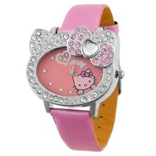 Reloj de diseño rosa con brillantes HELLO KITTY pink watch A1054
