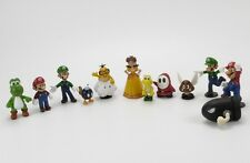 Lot 12 Super Mario Bros Mini Figures Figurine Toy Doll Set