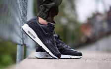 NIKE AIR MAX 90 WOVEN LEATHER SIZE UK 7 EUR 41 MENS SHOES TRAINERS BLACK RARE