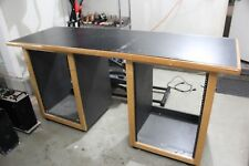 Recording Studio Workstation Desk with dual 16U Rack (32U Total) + Table Top