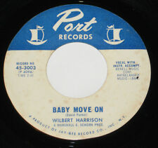 "Wilbert Harrison 7"" 45 HEAR NORTHERN SOUL Baby Move On PORT You're Still My Baby"