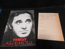 Charles Aznavour 1971 Japan Tour Book Signed Copy Concert Program
