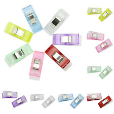 50Pcs Fixed Plastic Clips For Fabric Quilting Craft Sewing Knitting CrochetHot