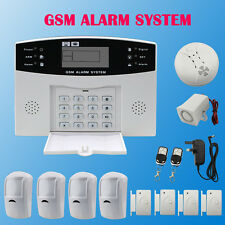 LCD Wireless GSM Alarm System Autodial Home House Office Intruder Security Guard