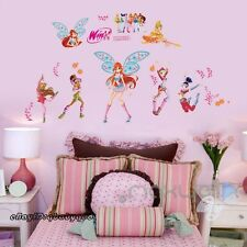 Winx Club Removable Wall Decals Girl Sticker Kids Art Home Decor Birthtday Gift