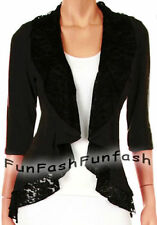 WM3 FUNFASH CARDIGAN BLACK LACE LAYERED NEW PLUS SIZE SWEATER TOP SHIRT 2X 22 24