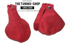 FITS ALFA ROMEO 156 1998-2002 GEAR HANDBRAKE GAITER SET RED SUEDE NEW