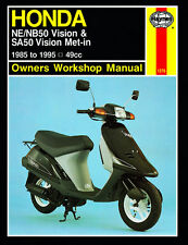 Haynes Manual 1278 - Honda NE50, NB50 Vision & SA50 Vision Met-in (85 - 95)