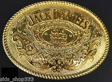 Jack Daniels Gold color Old No.7 Belt Buckle Western Cowbow 4 X 3 1/8 ""
