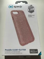 New Genuine Speck Presidio Clear Iphone 7 Case Rose Pink Glitter B2101
