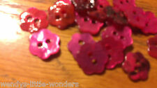 10 Mother Of Pearl Flower Buttons Blue Purple Pink Baby Pink Natural Mixed 10mm