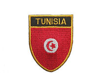 TUNISIA COUNTRY FLAG OVAL SHIELD FLAG EMBROIDERED IRON-ON PATCH CREST BADGE