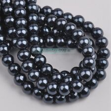 100pcs Top Quality Czech Glass Pearl Round Loose Spacer Beads 27 Colors 4/6/8mm