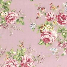 Cottage Shabby Chic Lecien Rococo Sweet Large Roses Fabric 31052L-110 BTY
