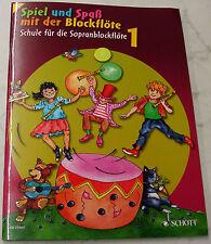 """BLOCKFLÖTEN - SCHULE  """"SPIEL UND SPASS""""   ED 21551  BAND 1   BAROCK"""