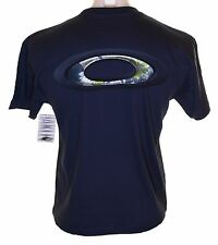 Bnwt Mens Oakley Iron Works 2 Cotton T Shirt Regular Fit Small Navy Blue