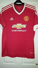 Mens Football Shirt - Manchester United - Home 2015-16 - Adidas - Chevrolet - L