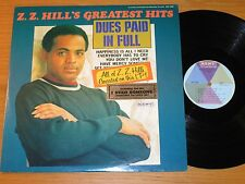 "STEREO SOUL LP - Z.Z. HILL - KENT 560 - ""DUES PAID IN FULL"" -- GREATEST HITS"