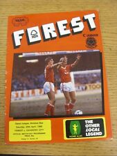20/04/1985 Nottingham Forest v Coventry City  (the item is in good/very good con