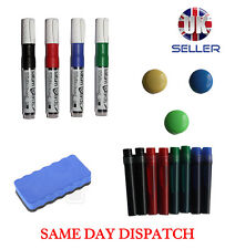 Whiteboard Accessories Kit Magnetic Eraser Marker Pen Refill & Magnets