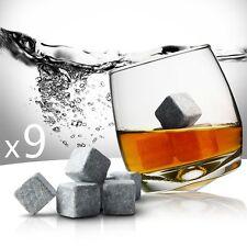 Lot De 9 Pierres À Whisky-Glaçons En Pierre–spiritueux–vin–alcool cocktail