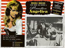 """""""MERVEILLEUSE ANGELIQUE"""" Affiche originale mexicaine entoilée (Michèle MERCIER)"""