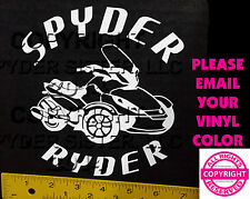 CAN-AM SPYDER  ST SPYDER RYDER - WINDOW DECAL / STICKER  - 13 colors