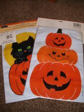 Vintage Hallmark Halloween Pumkin 2 Liter Bottle Cover Jackets Soda 1980's Mint
