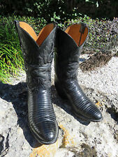 Exotic Lucchese Classic Handmade TEJU Lizard Men's Cowboy Western Boots 10E USA
