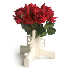 Suck UK Design Triple Gun Vase 3 Section White Ceramic Holder Gift Table Decor
