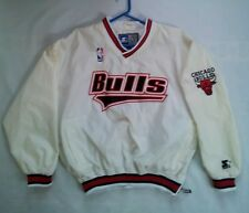VINTAGE RARE STARTER CHICAGO BULLS PULLOVER JERSEY IN SIZE L