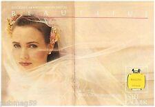 Publicité Advertising 1987 (2 pages) Parfum Beautiful par Estée lauder