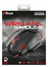 NUOVO TRUST 20687 Wireless Optical Gaming Mouse gxt130 regolabile da 800 a 2400 dpi
