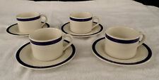 Syracuse China * AMERICAN AIRLINES * Coffee Cup & Saucer Sets * Cobalt Blue Band