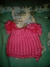 Homemade hats and diaper covers for reborns