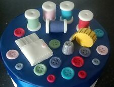 Handmade sewing needlecraft full cake decoration set / Topper