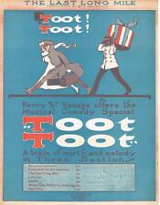 THE LAST LONG MILE fr TOOT TOOT 1917 Musical Comedy BREITENFELD Sheet Music VG