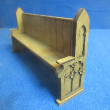 1/12th Dolls House Church Pew/Settle 160mm  Signed and Dated Item DHD34 GR