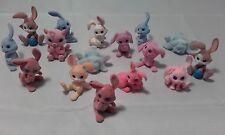 VINTAGE Graziosa Fuzzy FLOCK FELTRO CONIGLI Bunnies Bunny azienda nella mia tasca Bundle