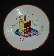 "FIESTA 80th Anniversary birthday CAKE 2016 9"" LUNCHEON lunch PLATE new 1ST"